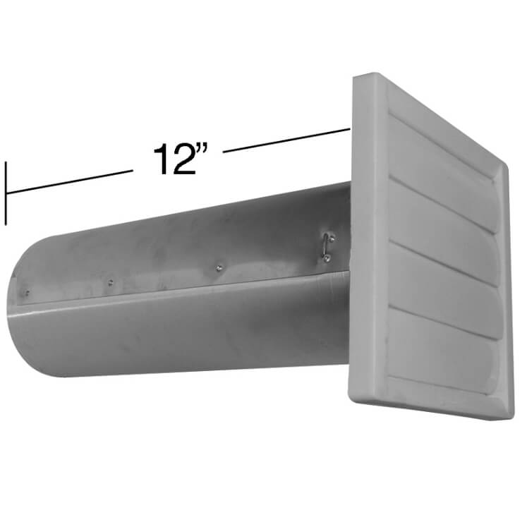 #2574 à/to 2576 Plastic flush hood vent with bird screen