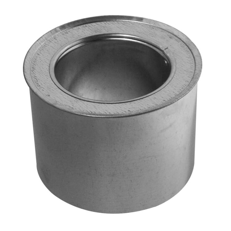 #2411D galvanized double liner cap