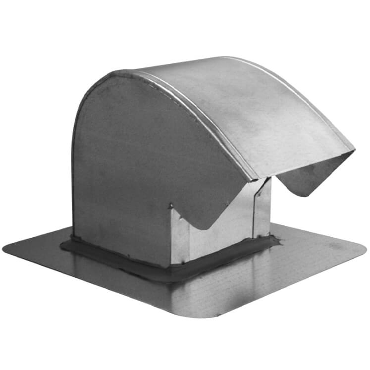 #7400 Galvanized roof cap with damper
