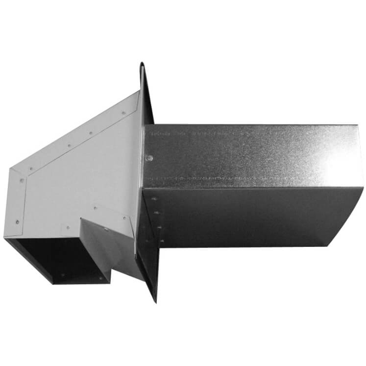 #7093-1 Rectangular wall vent with seal 22 g.