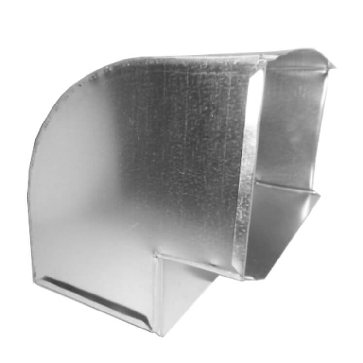 #481 Flat elbow 90° - square throat